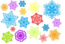 Free Snowflake Parade Stock Image - 17295821