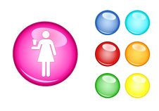 Free Orb Sign Woman Stock Photography - 17295822