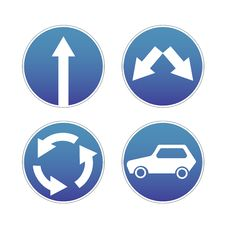 Signs Traffic Stock Photo