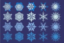 Free Snowflake Collection Stock Photography - 17295842