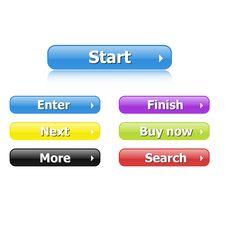 Free Vector Web 2.0 Buttons Stock Photos - 17295943
