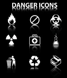 Free Danger Icons Stock Photography - 17295982