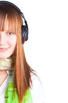 Free Pretty Girl Listening To Music Royalty Free Stock Photo - 17297355