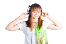 Free Pretty Girl Listening To Music Royalty Free Stock Photo - 17297395