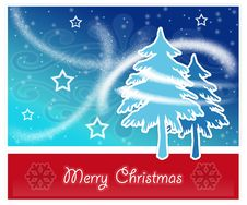Merry Christmas Postcard Stock Photo