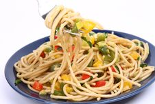 Free Spaghetti With Vegetables Stock Image - 17298461