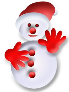 Free Snowman Royalty Free Stock Photography - 17298597