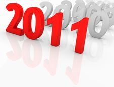 Free 2011 - Next Year Royalty Free Stock Photo - 17299315