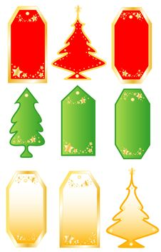 Free Collection Christmas  Labels Stock Photography - 17299322