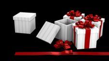 Free Gift Box Dark Room Royalty Free Stock Photo - 17299595
