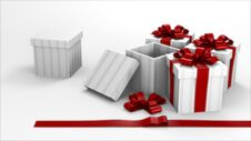 Free Gift Box White Room Royalty Free Stock Images - 17299599