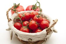 Free Cocktail Tomatoes In The Basket Royalty Free Stock Images - 17299879