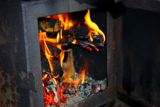 Free Fire In The Furnace Stock Photo - 17299930