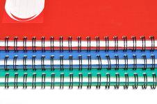 Free Spiral Edge Of Three Rectangular Notebooks Royalty Free Stock Photo - 17299945