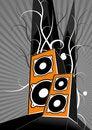Free Orange Loudspeakers. Vector Royalty Free Stock Image - 1732136