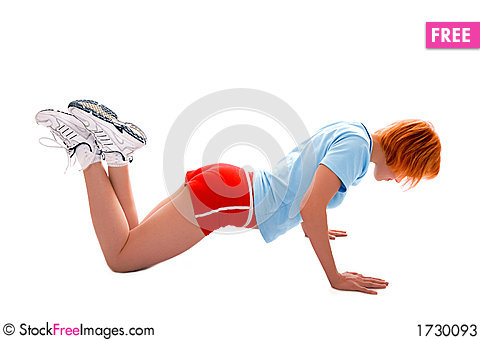 Pretty fitness girl Stock Photo