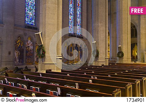 Free Grace Cathedral In San Francisco Stock Image - 1734901