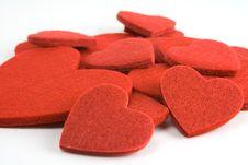 Free Felt Heart Pile Royalty Free Stock Image - 1731546