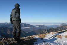 Free Mountain Tourist Royalty Free Stock Photography - 1732077
