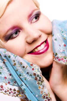 Free Blue Scarf Royalty Free Stock Photography - 1733127