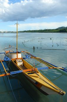 Asian Small Fishermen S Boat. Royalty Free Stock Image