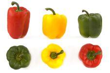 Free Three Colorful Paprikas Royalty Free Stock Photo - 1735585