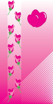 Vector, Valentine, Decoration, Ornament, Petal, Love, Illustrati Royalty Free Stock Image