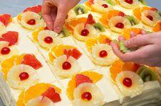 Free Decorating The Fruit Cakes Stock Photo - 1736270