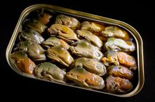 Free Smoked Mussels Stock Images - 1736564