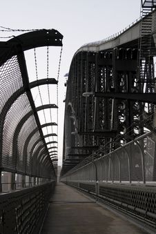 Sydney Harbor Bridge Walkway Royalty Free Stock Image
