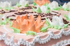 Free Cream Decoration On Cake Royalty Free Stock Images - 1736769