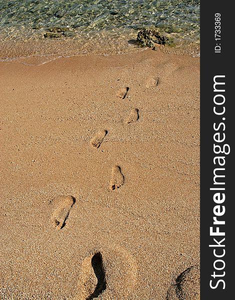 Footsteps on sand