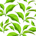 Free Seamless Pattern With Green Leaves Royalty Free Stock Photos - 17300618