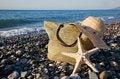 Free A Bonnet, A Bag And A Seastar Stock Image - 17304221