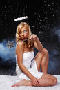 Free Sexy Young Angel Woman Try To Magic Royalty Free Stock Photography - 17307197