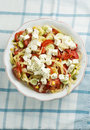 Free Salad With Feta Cheese, Tomato And Corn Royalty Free Stock Photography - 17308787