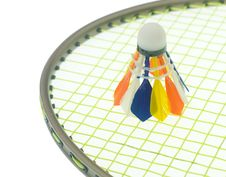 Free Colorful Shuttlecock On Badminton Rackets Royalty Free Stock Images - 17300059