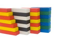 Arrangement Of Wooden Color Block Royalty Free Stock Photo