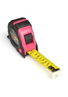 Free Pink Steel Tape Measure Stock Images - 17300124
