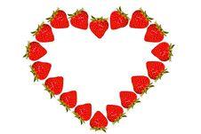Free Strawberry Heart Royalty Free Stock Image - 17300556