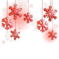 Free Winter Background With Snowflakes Stock Image - 17300621