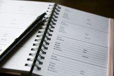 Address Book Close Up Royalty Free Stock Photography