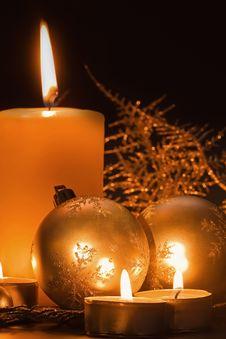 Free Christmas Candle Stock Photo - 17300950