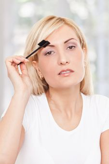 Free Beauty Woman Making-up Stock Photo - 17301110