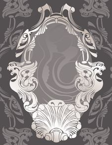 Free Classical Decorative Framework Stencil Royalty Free Stock Photography - 17301527