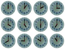 Free Analog Watch 12 Time Zones Royalty Free Stock Photos - 17301658
