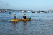 Fishermen In Boat Stock Images