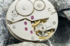 Free Clockworks With Gears Royalty Free Stock Image - 17301866