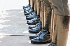 Free Army Footwear On Parade Stock Photos - 17302013