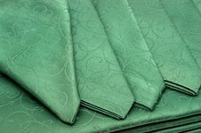Free Green Tablecloth And Napkin Royalty Free Stock Photo - 17302055